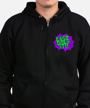 Funny Alcoholics anonymous recovery Zip Hoodie