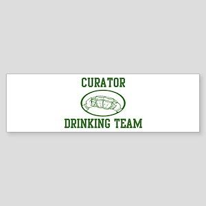 Curator Drinking Team Bumper Sticker