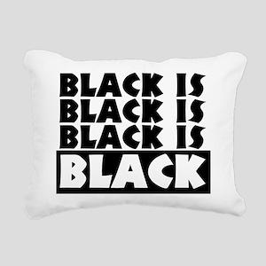 Black is Black Rectangular Canvas Pillow