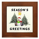 Christmas Greetings Framed Tile