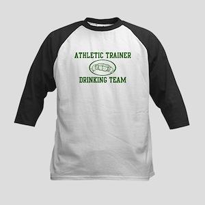 Athletic Trainer Drinking Tea Kids Baseball Jersey