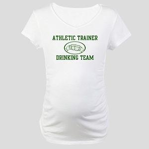Athletic Trainer Drinking Tea Maternity T-Shirt