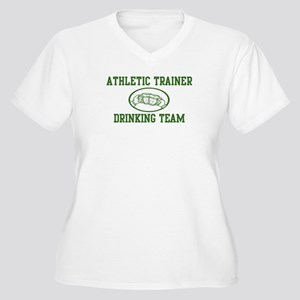 Athletic Trainer Drinking Tea Women's Plus Size V-