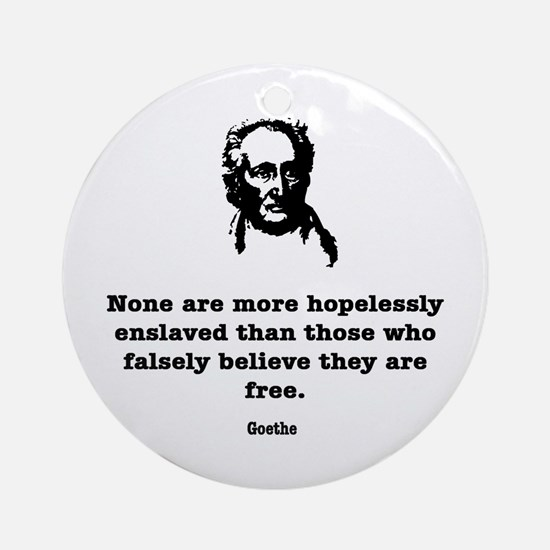 Goethe Slavery Ornament (Round)