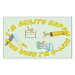 Happy Q-Less Rectangle Sticker