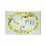 Happy Q-Less Rectangle Magnet