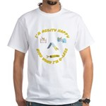 Happy Q-Less White T-Shirt