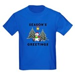 Christmas Greetings Kids Dark T-Shirt
