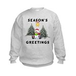 Christmas Greetings Kids Sweatshirt