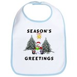 Christmas Greetings Bib