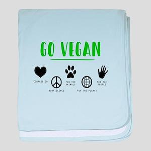 Vegan Food Healthy baby blanket