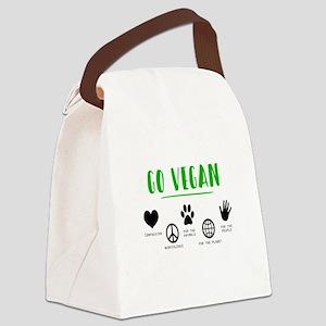 Vegan Food Healthy Canvas Lunch Bag