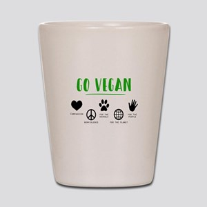 Vegan Food Healthy Shot Glass