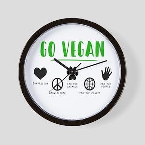 Vegan Food Healthy Wall Clock