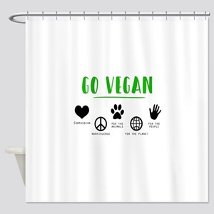 Vegan Food Healthy Shower Curtain