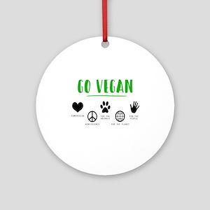 Vegan Food Healthy Round Ornament