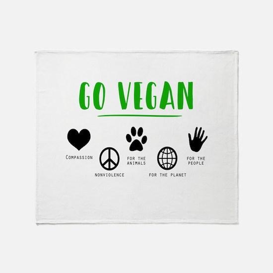 Vegan Food Healthy Throw Blanket