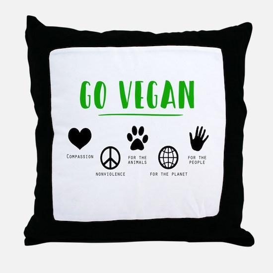 Vegan Food Healthy Throw Pillow