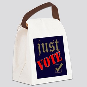 Just Vote Blue Canvas Lunch Bag