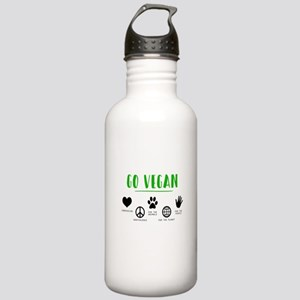 Vegan Food Healthy Stainless Water Bottle 1.0L