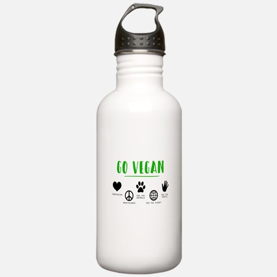 Vegan Food Healthy Water Bottle