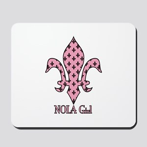 NOLA Girl Fleur de lis (pink) Mousepad