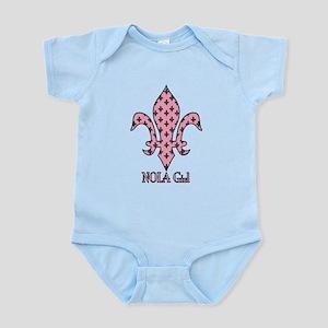 NOLA Girl Fleur de lis (pink) Infant Bodysuit