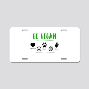 Vegan Food Healthy Aluminum License Plate