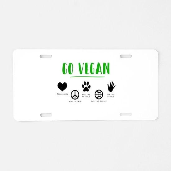 Vegan Food Healthy Aluminum License Plate