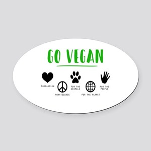 Vegan Food Healthy Oval Car Magnet