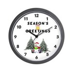 Christmas Greetings Wall Clock
