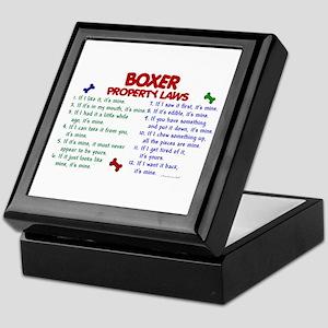Boxer Property Laws 2 Keepsake Box
