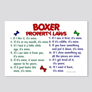 Boxer Property Laws 2 Postcards (Package of 8)