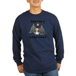 Christmas Greetings Long Sleeve Dark T-Shirt