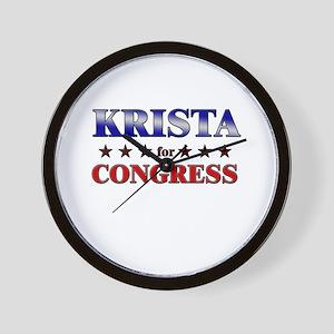 KRISTA for congress Wall Clock