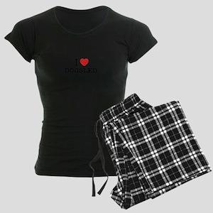 I Love DOGSLED Women's Dark Pajamas