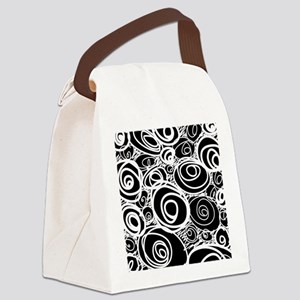 Scribbles And Swirls Canvas Lunch Bag