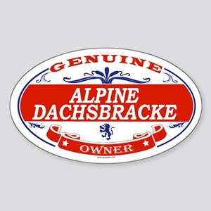 ALPINE DACHSBRACKE Oval Sticker