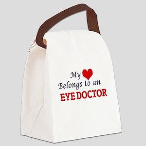 My Heart Belongs to an Eye Doctor Canvas Lunch Bag