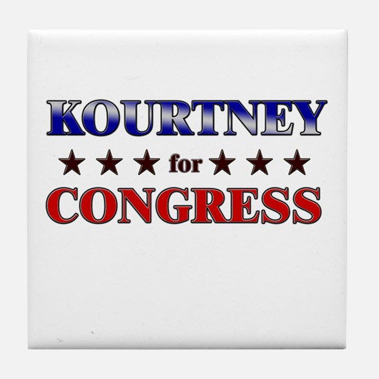 KOURTNEY for congress Tile Coaster