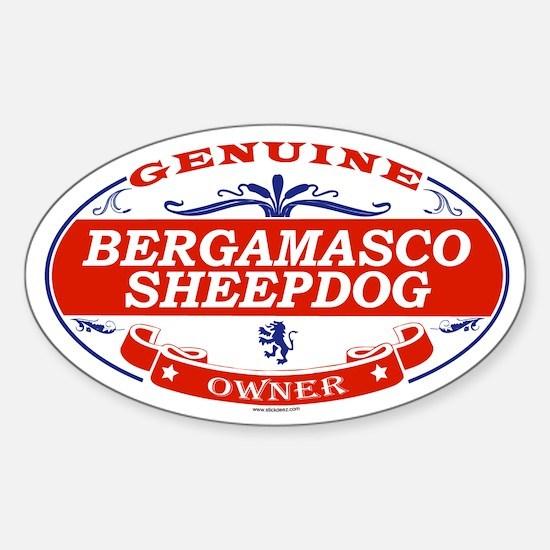 BERGAMASCO SHEEPDOG Oval Decal
