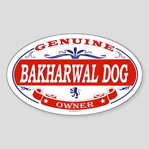 BAKHARWAL DOG Oval Sticker
