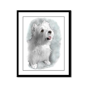 Westie Request Framed Panel Print