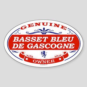 BASSET BLEU DE GASCOGNE Oval Sticker