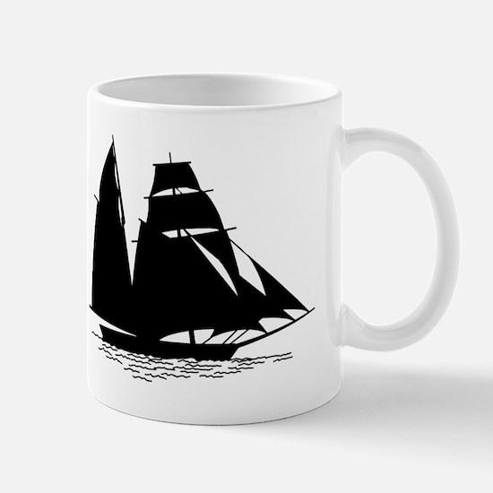 Black Sailboat Mugs