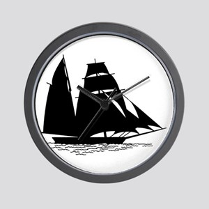 Black Sailboat Wall Clock