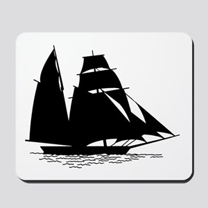 Black Sailboat Mousepad