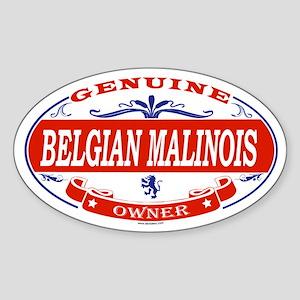BELGIAN MALINOIS Oval Sticker