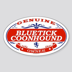 BLUETICK COONHOUND Oval Sticker