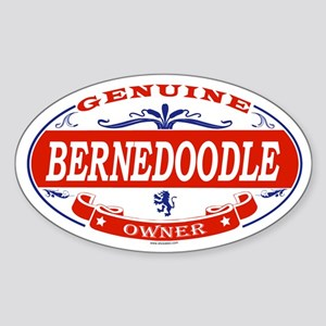 BERNEDOODLE Oval Sticker